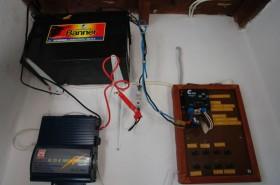 Část systému na solární energii