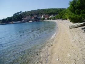 Pohled na pláž v blízkosti domu