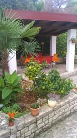 Terasa apartmánu v zahradě