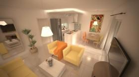 Kuchyňský kout s obývací částí