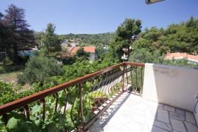 Výhled z balkónu v zadní části domu