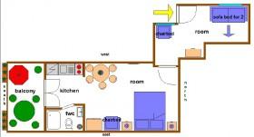 Nákres apartmánu