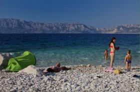 Oblázky na pláži