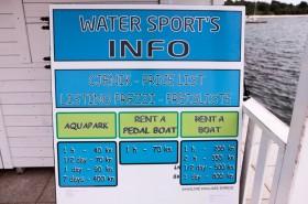 Ceník vodních atrakcí