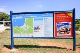 Mapa pláže a okolí