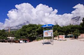 Stanoviště plavčíka na pláži