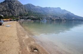 Pláž s pozvolným vstupem do moře