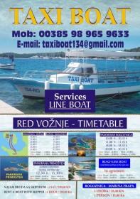 Lodní taxi Ražanj - Rogoznica