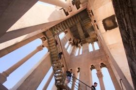 Výstup na věž Diokleciánova paláce