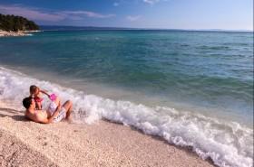 Pláž je vhodná i pro děti