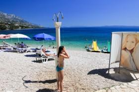 Sprchy a převlékárny na pláži