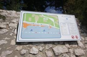 Mapa pláží před komplexem Thalassotherapia