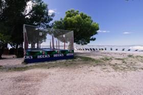 Trampolína na pláži