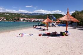 Písčito-oblázková pláž