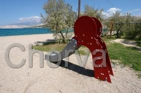 Dětské kouty podél pláží