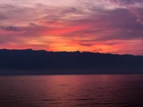 Východ slunce nad Biokovem