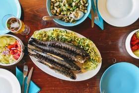 Grilované ryby na večeři