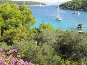 Nádherný výhled na moře a zátoku z terasy APP
