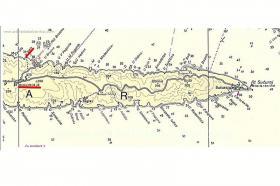 Poloha zátoky na ostrově Hvar