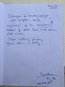 Komentář z knihy hostů