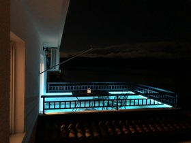 Terasa podsvícena LED osvětlením