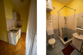 Koupelna a kuchyňská linka