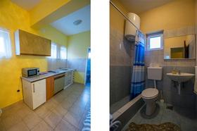 Kuchyňská linka a koupelna