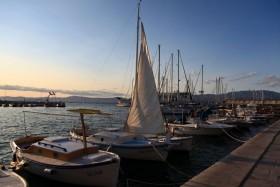 Západ slunce v přístavu